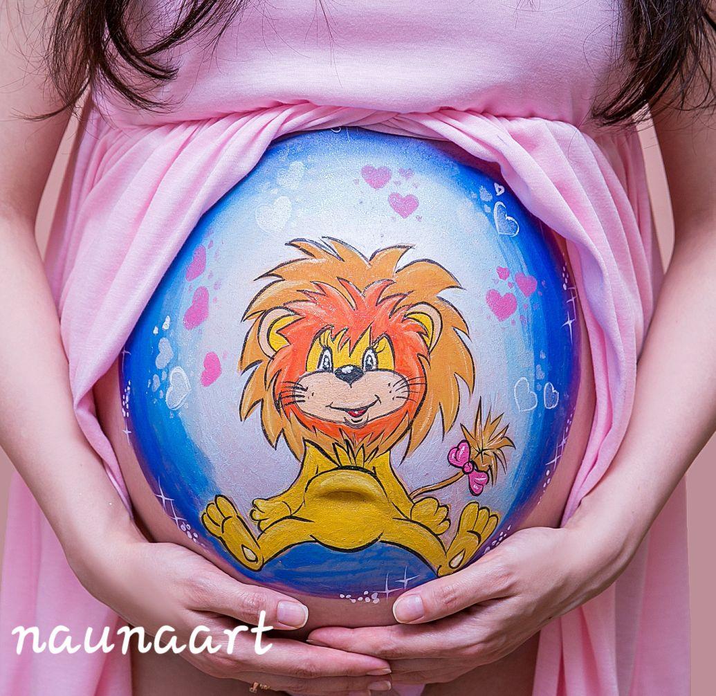 Babybauch Löwe
