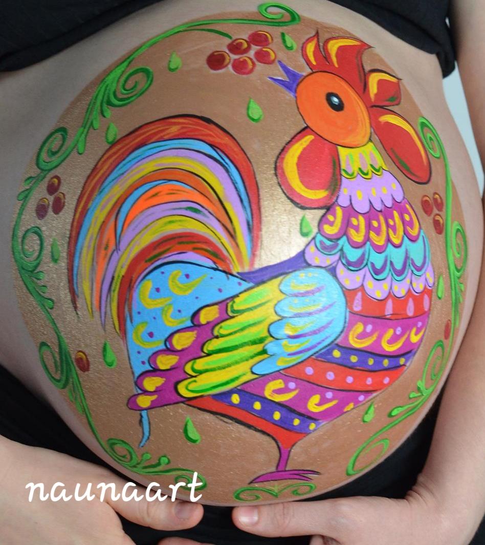 Babybauch Malerei
